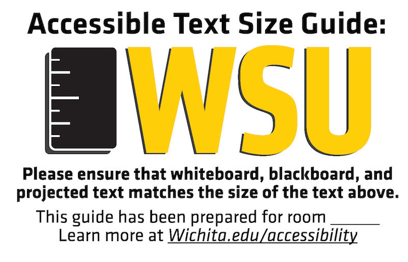 Wichita State Text Size Indicator